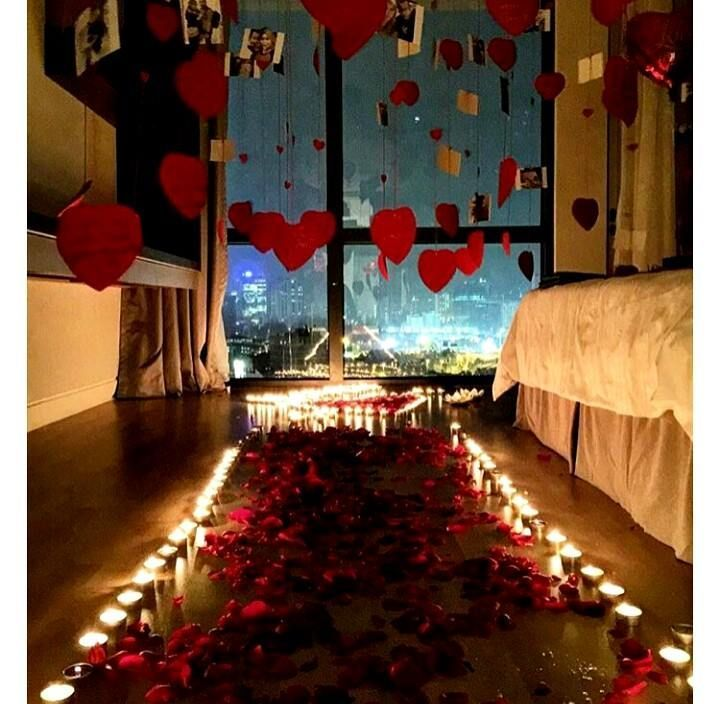 Pin By Zari On Valentine S Day Romantic Birthday Birthday Room