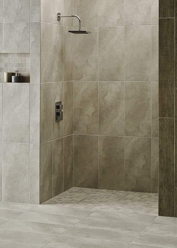 Quebec Gris Porcelain Tiles Come In A Range Of Colours And Can Be Used On Walls