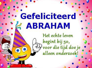 Geliefde leuke verjaardagswensen abraham   Verjaardagswensen voor Abraham &EO13