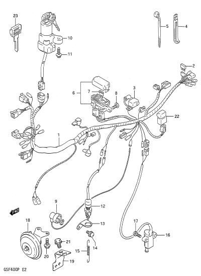 suzuki gsf 400 wiring diagram