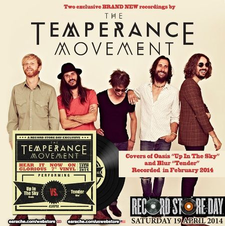 Britain's best loved rock 'n' roll band, The Temperance Movement, have announced an exclusive vinyl to celebrate this year's Record Store Da...