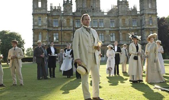 Hugh Bonneville as the Earl of Grantham leads the cast at Highclere Castle
