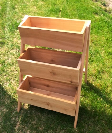 $10 Cedar Tiered Flower Planter or Herb Garden #outdoorherbgarden