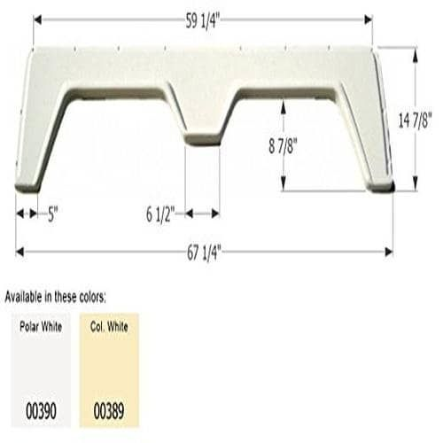 Icon FS310A Tandem Fender Skirt, Polar White - polar white