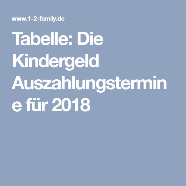 Tabelle Die Kindergeld Auszahlungstermine Fur Das Jahr 2021 Kindergeld Kinder Kind Entwicklung
