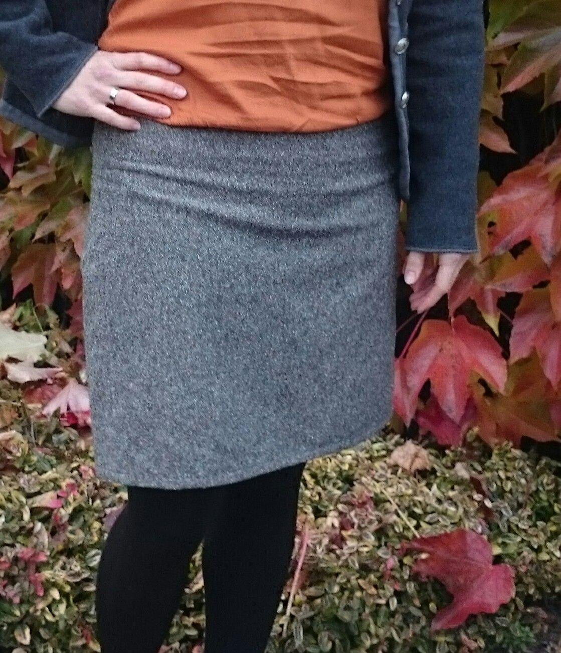 Herbstrock - mit schönen festen Baumwollstoff in Herbstfarben