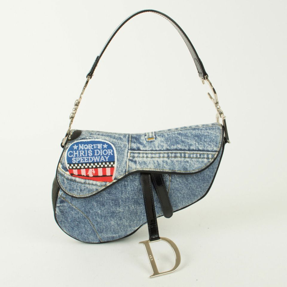 3769b67ec5dc Dior Saddle Bag In Blue Jean A