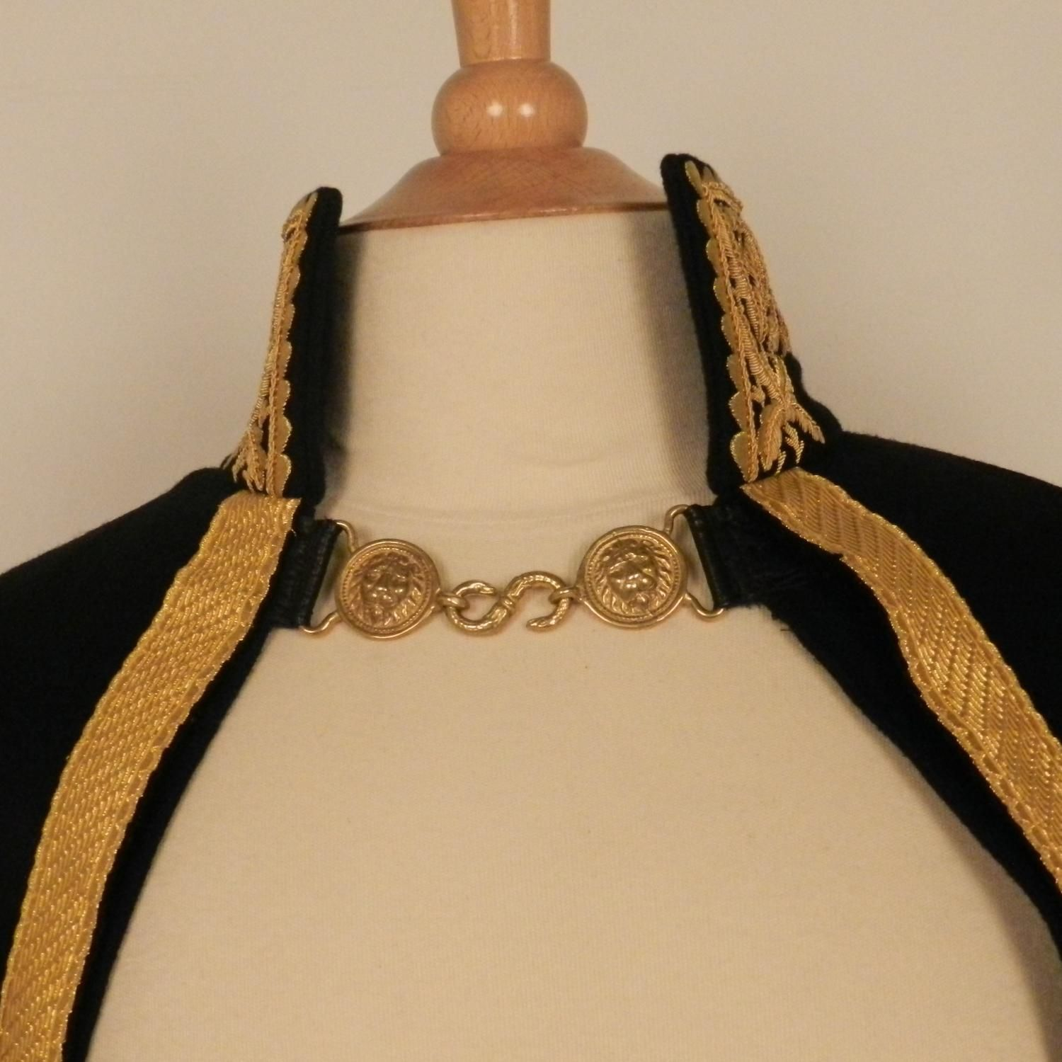 Cloak for general with embroidered collar and gold braid