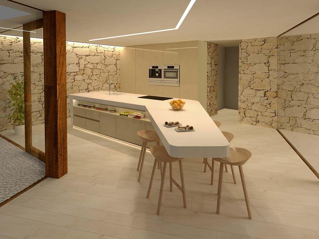 Casa Costa Blanca Cocina Calpe Nodopia Arquitectura Y Diseno