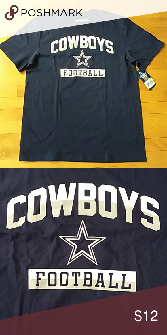 buy online 7a4cc 9c8ae Mens Dallas Cowboys Football T-Shirt Navy Sz L 3XL New with ...