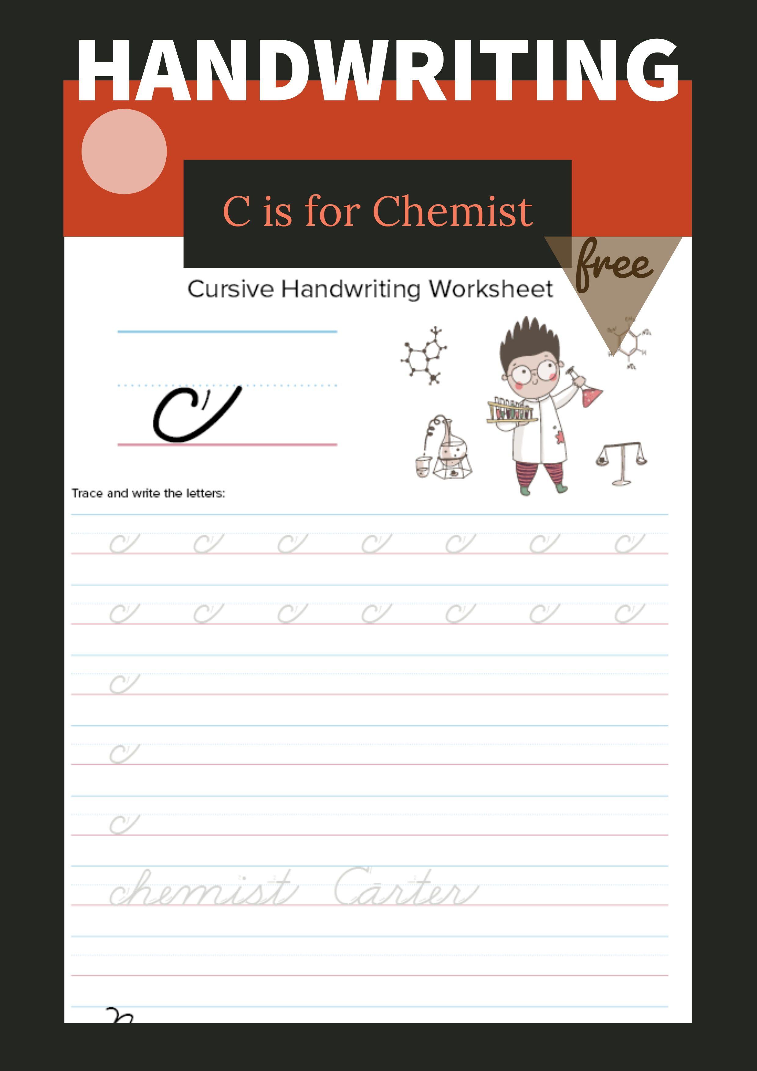 Lowercase Cursive C Worksheet