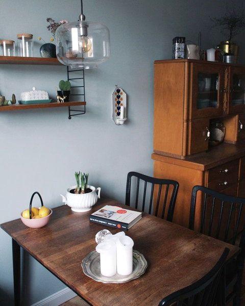 Hereinspaziert! 10 neue Wohnungseinblicke auf Blue gray kitchens - ideen wandgestaltung küche