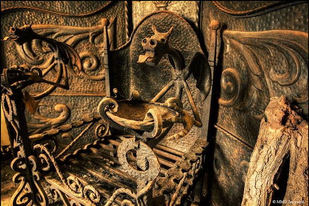 Castel du CJ. Fireplace in an abandoned castle in Spain. by Martino Zegwaard