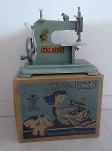 Ancienne machine coudre enfant poup e piq bien bo te f for Boite machine a coudre