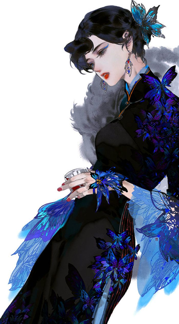插画师『伊吹鸡腿子』 堆糖,美图壁纸兴趣社区 Asian style art, Character art