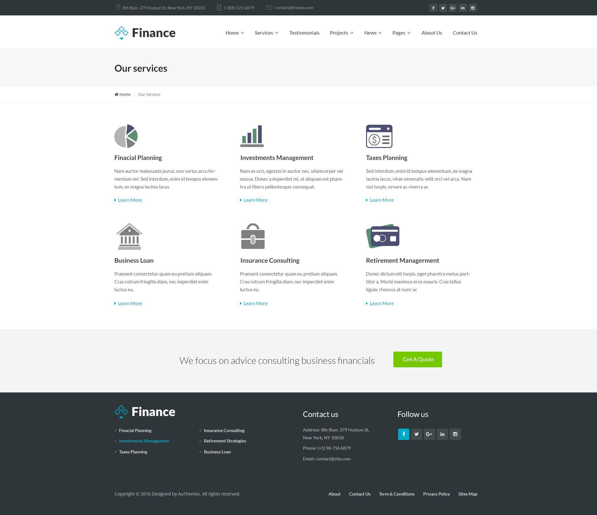 Finance Business And Finance Corporate Psd Template Finance