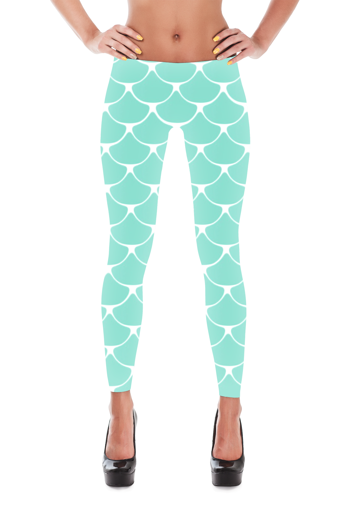 ecbf1123cbaad Blue Mermaid fish scale leggings. Shiny, durable and hot. These  polyester/spandex leggings will never lose their stretch and provide that  support and ...