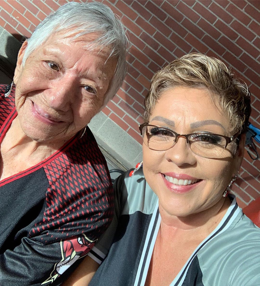 Grandma Vanilla had fun last night with her daughter, Rosie, her son, Mike, and the rest of the fam at the D-Backs game last night ❤️
