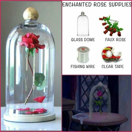 Make Your Own Enchanted Rose Beauty And The Beast Beauty And The Beast Diy Beauty And The Beast Theme Enchanted Rose