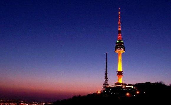 N Seoul Tower In Korea 한국 역사 사진