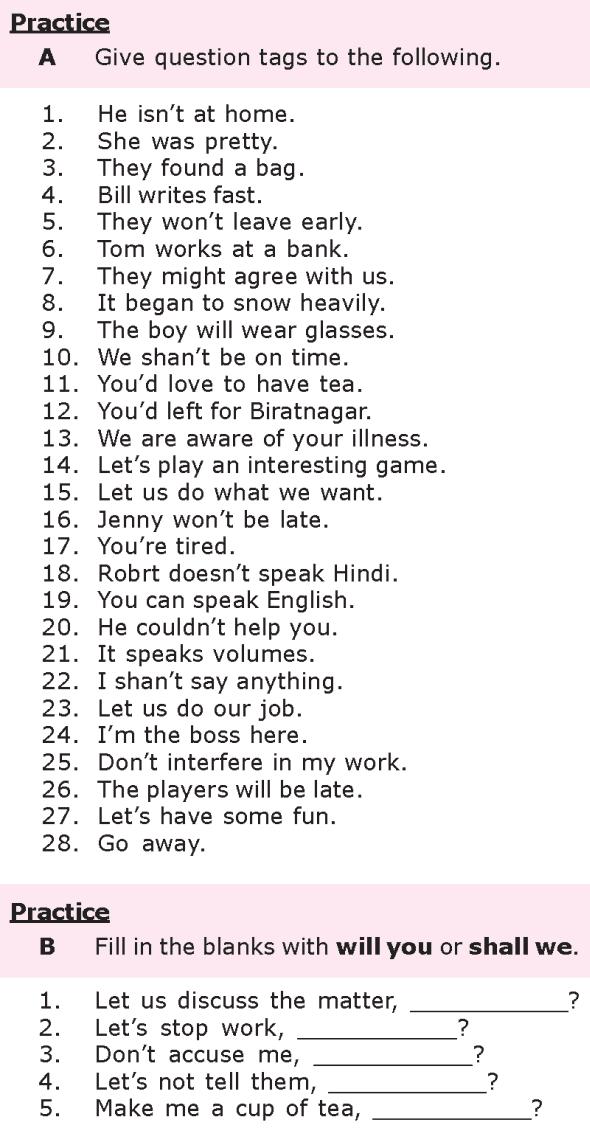 Grade 8 Grammar Lesson 20 Question Tags 1 Clase De