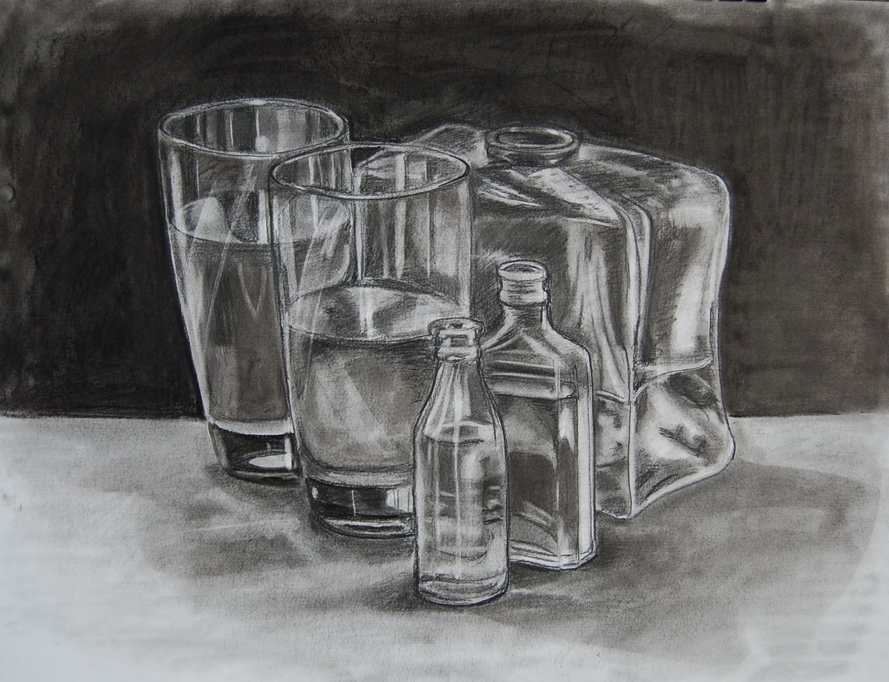 8 best images about pencil drawing glass on Pinterest