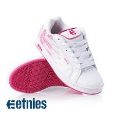 Etnies Women'S Fader Shoes WhiteClearPink $87.20