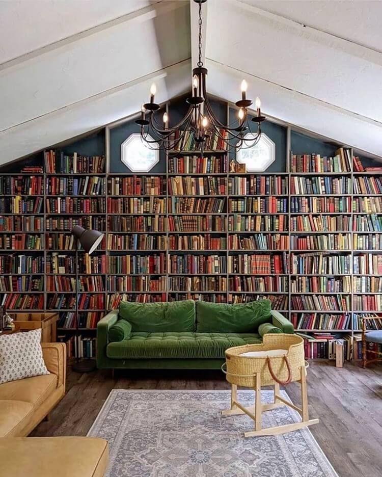 Décoration bibliothèque - les recoins de lecture les plus magiques !