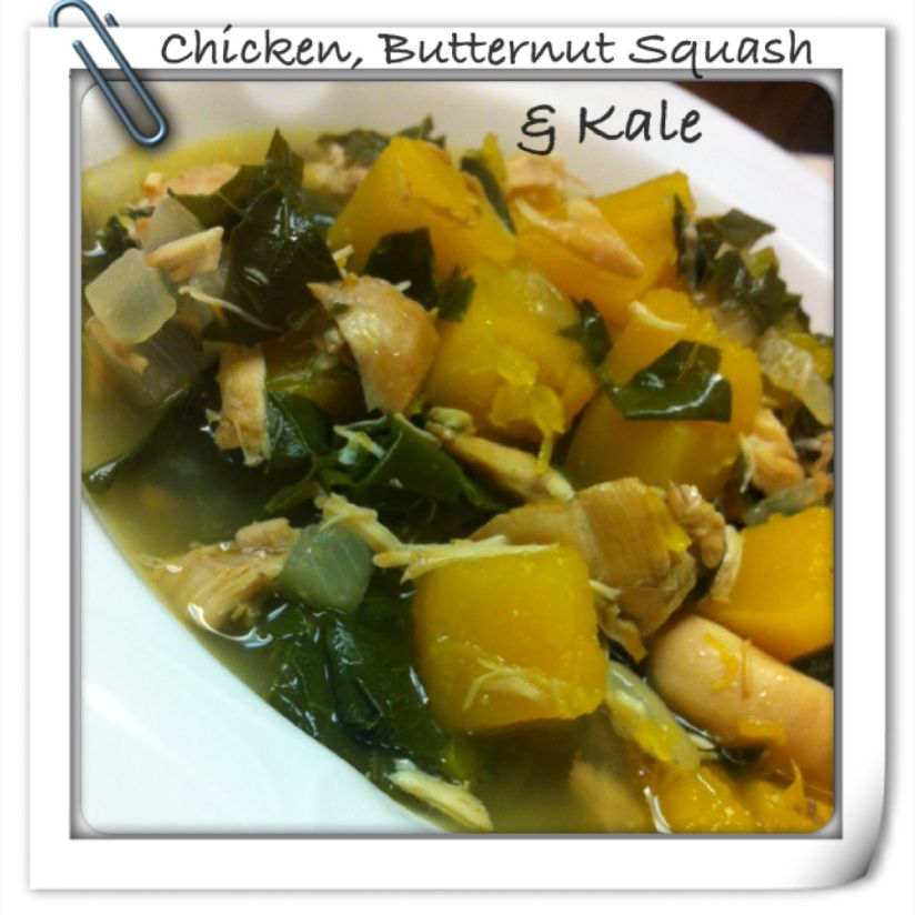 Chicken, Butternut Squash and Kale Soup