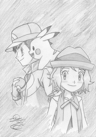 Serena X Satoshi Xy Z By Koreanmonk1984 Deviantart Com On Deviantart Pokemon Characters Pokemon Ash And Serena Pokemon Movies