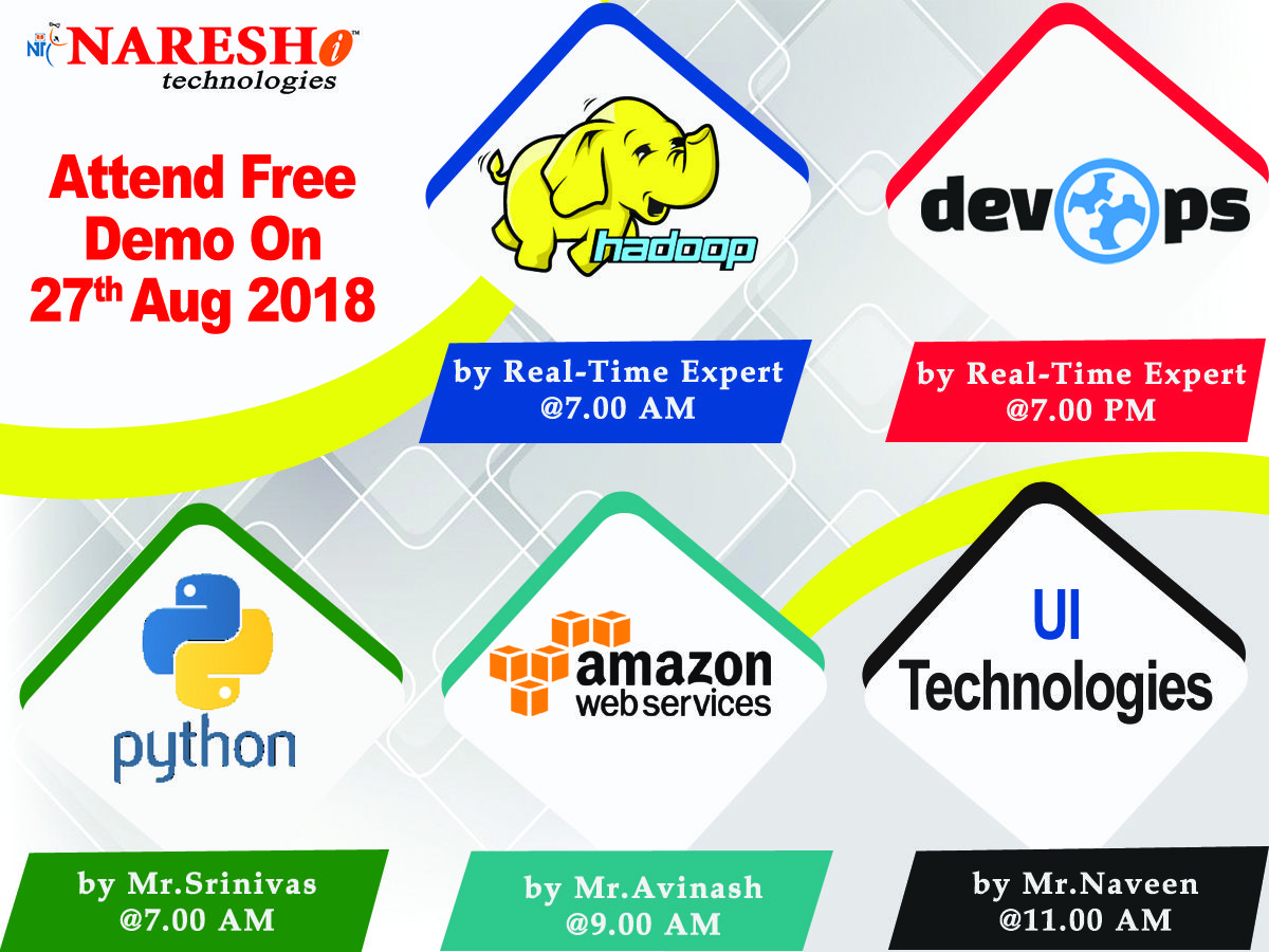 Attend free demo on new batches on 27th aug by realtime