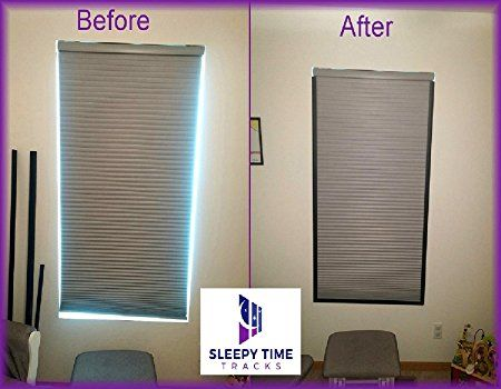 New Product Blocks Light Creeping Through The Sides Of Blackout Window Shades Introducing Magnetic Sleepy Time Tracks