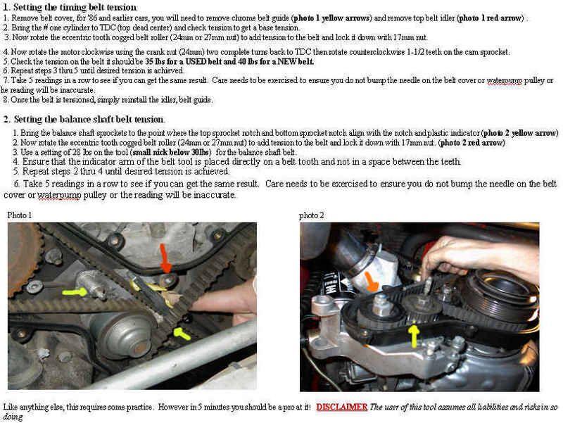 Porsche 944 Timing Belt Tensioning Met Afbeeldingen