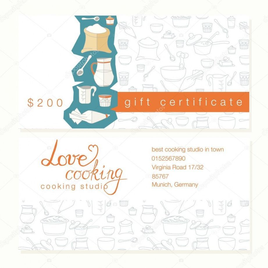 Browse Our Free Cooking Class Gift Certificate Template Gift Certificate Template Certificate Templates Free Gift Certificate Template Cooking class gift certificate template