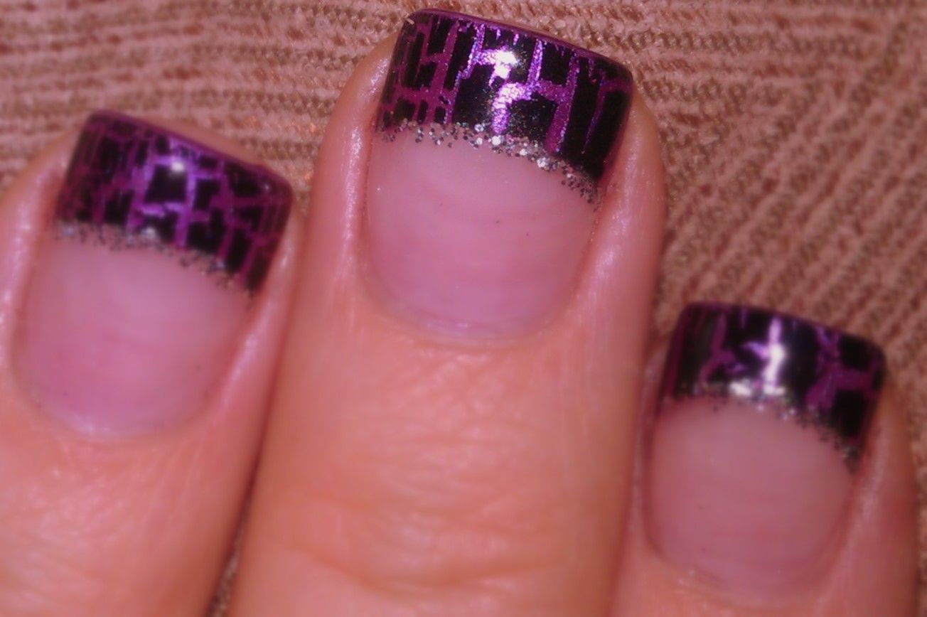 Purple with Black Crackle & Silver Glitter line!!! (More RCHS Football colors)