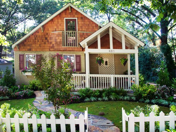Landscape Design Ideas For Small Front Yards marvelous inexpensive landscaping ideas for small front yard pictures design ideas Country Cottage Lush Landscaping Ideas For Your Front Yard On Hgtv