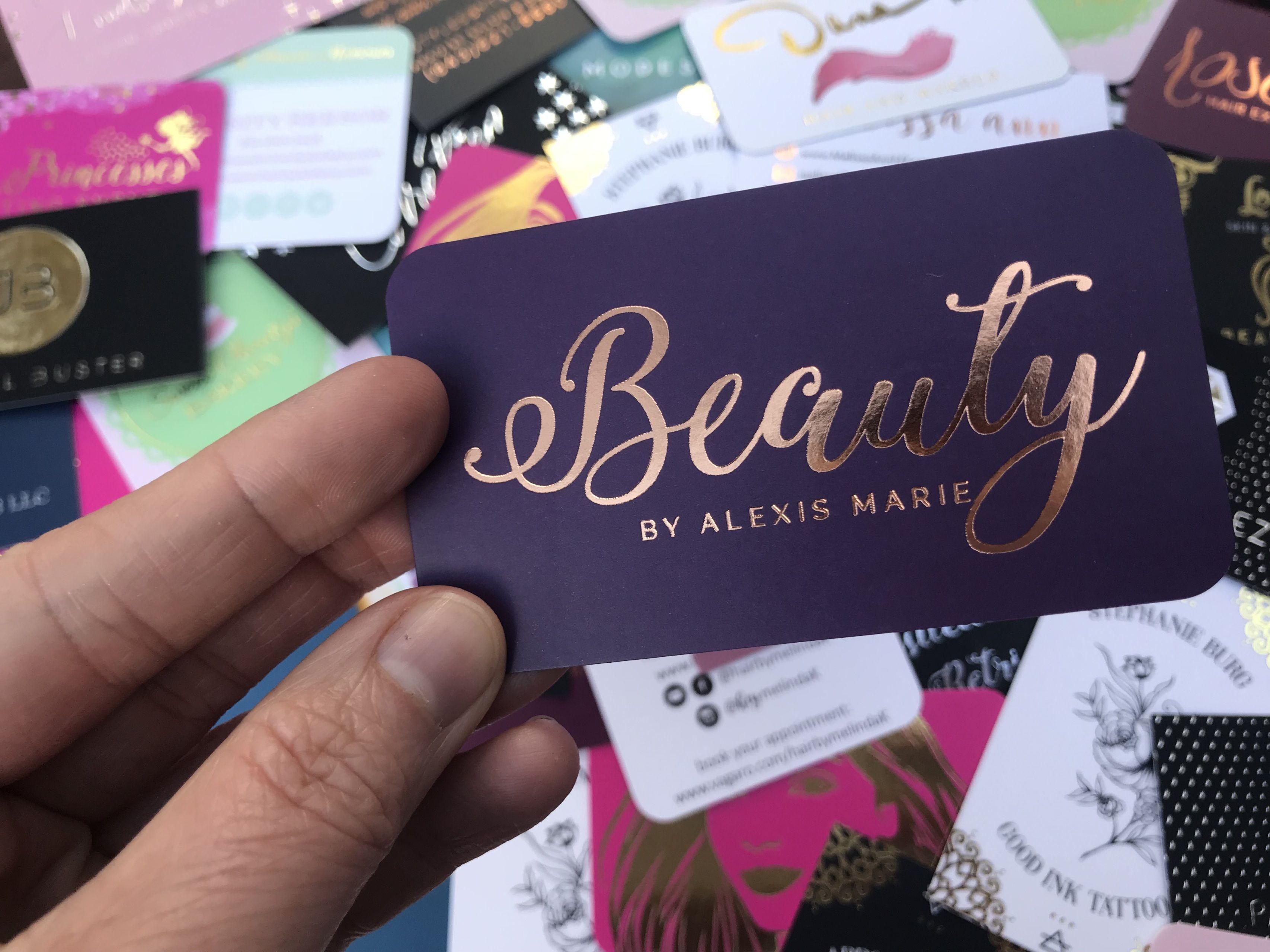 Image result for rose gold foil business cards tarjetas