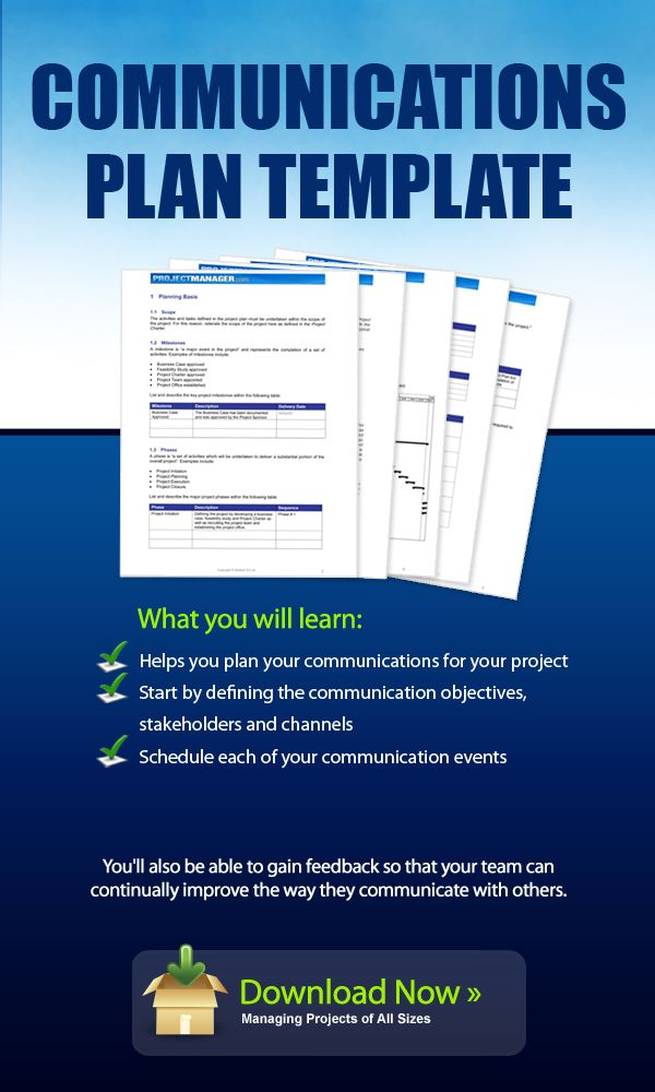 Download this Communication Plan template for free It helps you - free project planner template