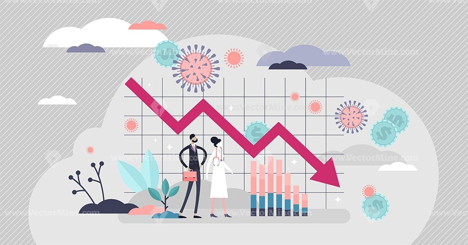 Economic crisis vector illustration in 2020 vector