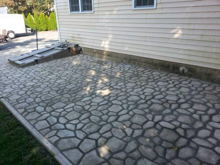 Diy massive concrete cobblestone patio with images diy