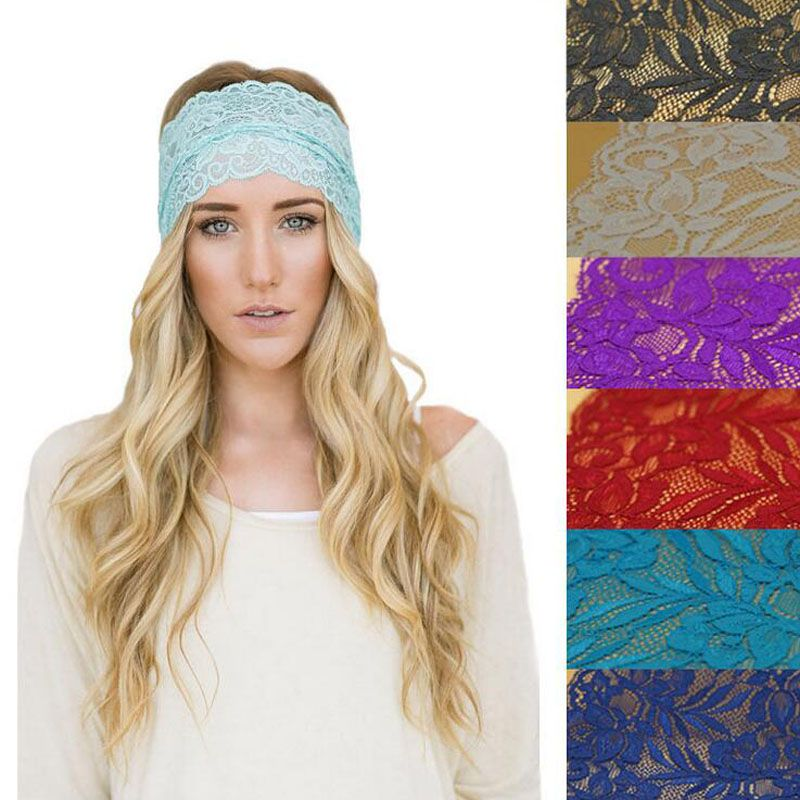 >> Click to Buy << 2016 New Sweet  Women Lace Headbands Fashion Floral Headwear Women Headband Europe and America StyleXHH04196 #Affiliate
