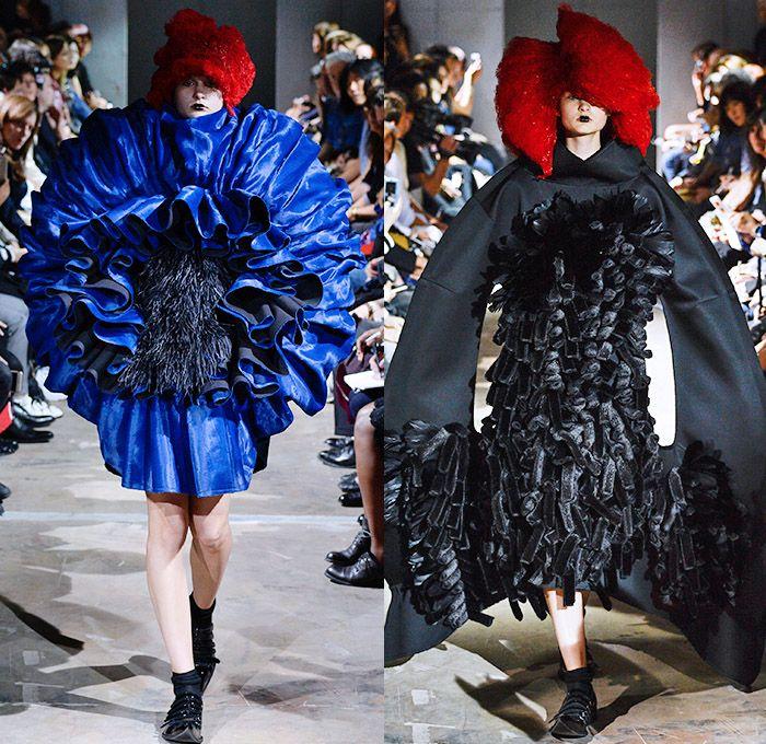 comme des gar ons designer rei kawakubo 2016 spring summer womens runway catwalk looks mode. Black Bedroom Furniture Sets. Home Design Ideas