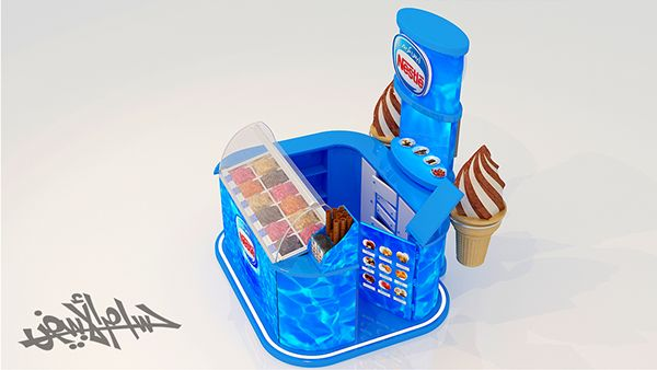 Nestle Exhibition Booth : Nestle ice cream booth stand on behance