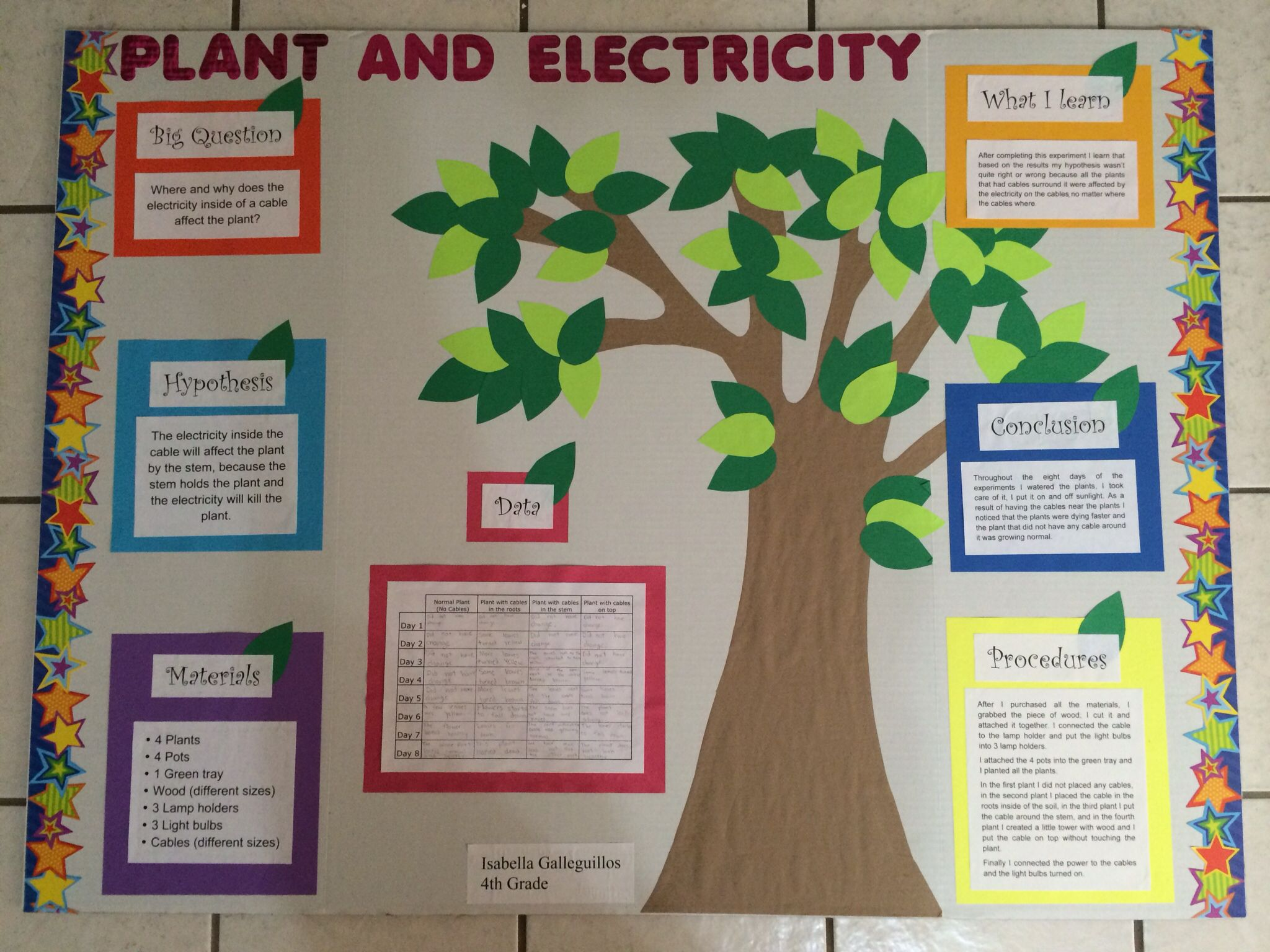 tri fold poster board science project