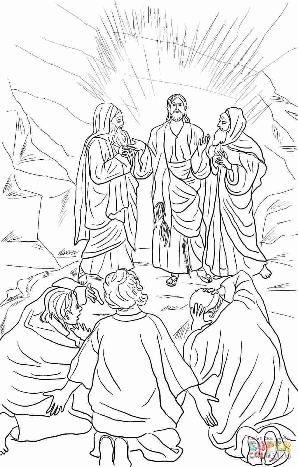 Coloring Pages Jesuss transfiguration coloring pages