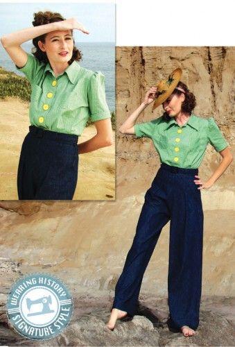 eine Bluse | Schnittmuster | Pinterest | Blusen, Vintage und ...