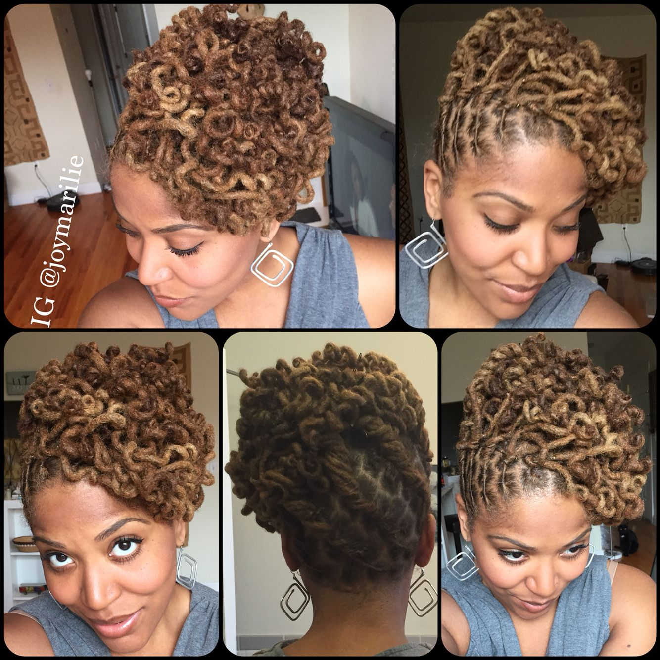 curly loc pin up | my loc styles and experiments | hair styles