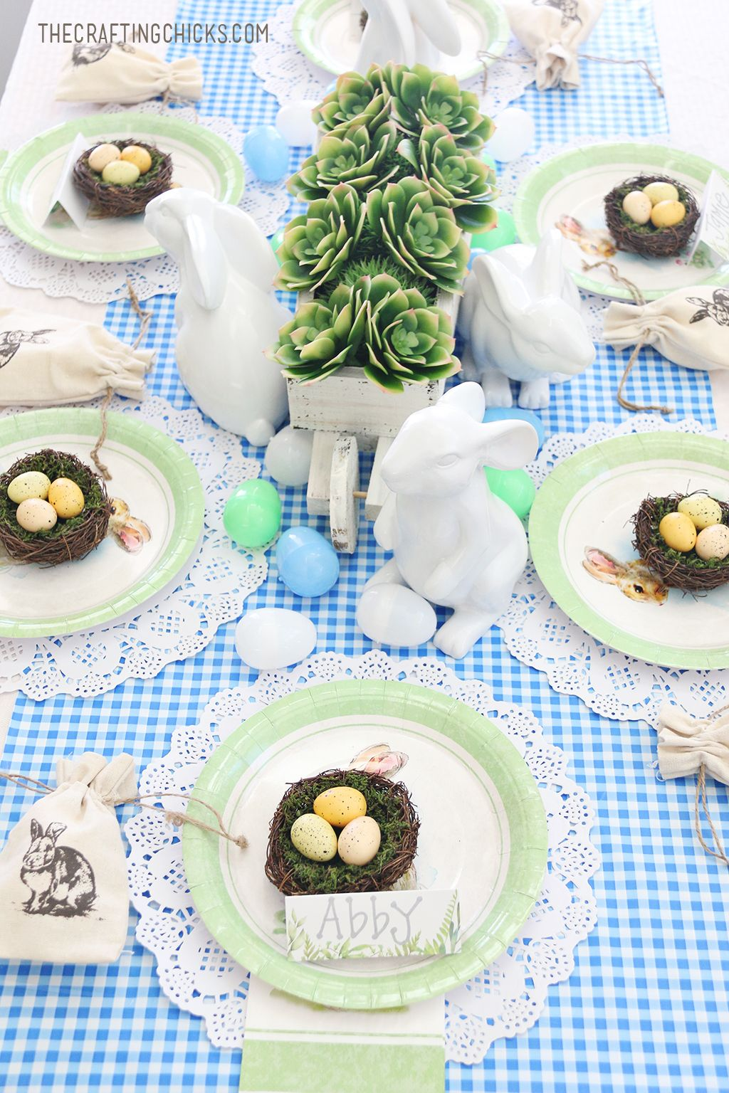 Easter Kid Table Place Settings   Table place settings, Place ...