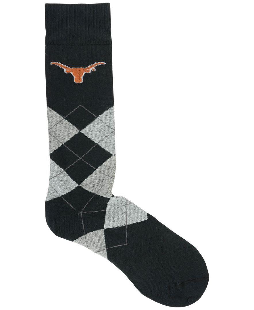 For Bare Feet Texas Longhorns Argyle Dress Socks