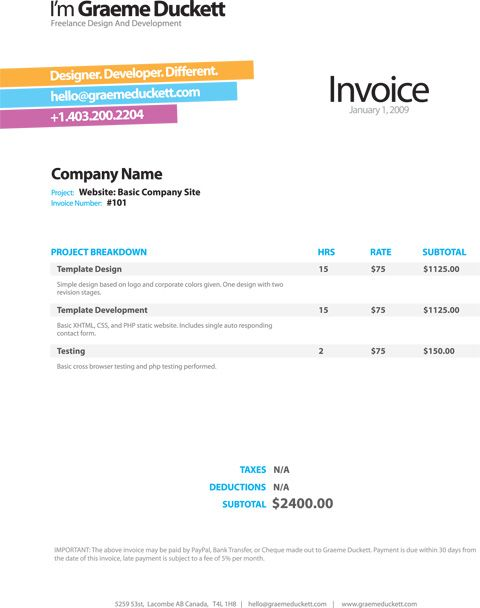 1000+ images about Invoice Design on Pinterest | Invoice Design